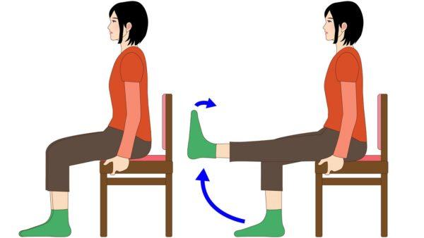 座ったままでできる、太ももの筋力アップ
